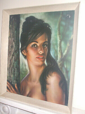 "Large vintage J H Lynch print, ""Tina"", very iconic original Boot's label, 1960s"