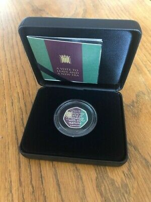 Solid Silver Brexit 50p Coin Official Royal Mint Limited Edition Brand New