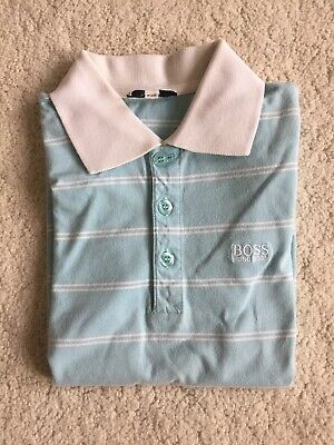 Boys Hugo Boss Blue And White Polo Top Age 8 Years