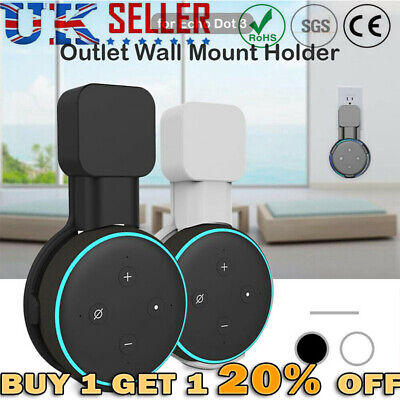 Outlet Wall Mount Hanger Holder Stand Socket for Amazon Echo Dot 3rd Generation`