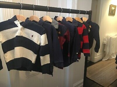BOYS RALPH LAUREN 2 T BUNDLE (x7)  Hoodies, Polo/Rugby Shirts, Jumpers NAVY