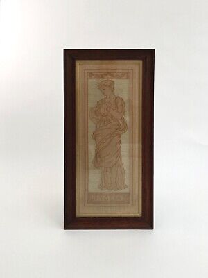 Arts and Crafts Movement textile panel embroidered picture antiqueArt Nouveau