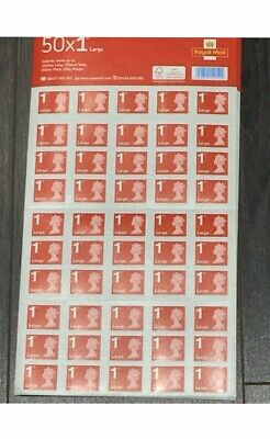 50 Royal Mail First Class Large Stamps ***Fast Delivery***
