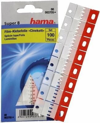 100 Pack Super8 8mm Hi8 MP90 Splicing Tape For Splice Tabs Film Joining Tapes