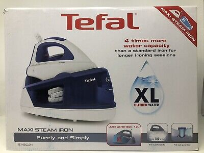 Tefal Maxi Steam Iron Purely And Simply Sv5021 with guarantee.