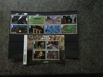 1) GB Stamps  2020 Video Games Pairs With Miniature Sheet