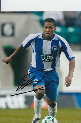 Wigan Hand Signed Antonio Valencia 6X4 Photo 1.