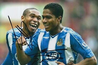 Wigan Hand Signed Antonio Valencia And Wilson Palacios 6X4 Photo.