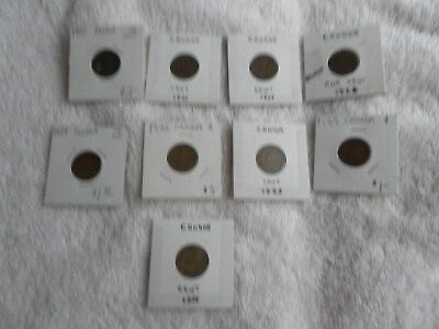 Lot Of 9 Canada George V Cent Quality Coins Different Dates see description Lot4