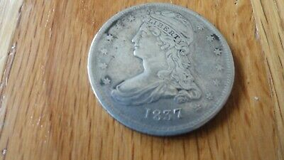 1837 Bust Half Dollar Reeded Edge VF
