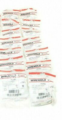 Lot Of 16. Wiremold (14) V5703 Ivory & (2) 5703Wh White. Steel Supporting Clips