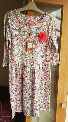 Joules Girls Junior Reille Dress Age 9-10 New With Tags - Autumn/winter