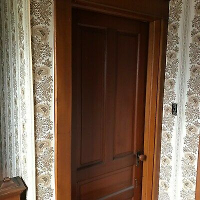 Vintage Lot of 6 Solid Wood 4 Panel Doors  - Architectural Salvage