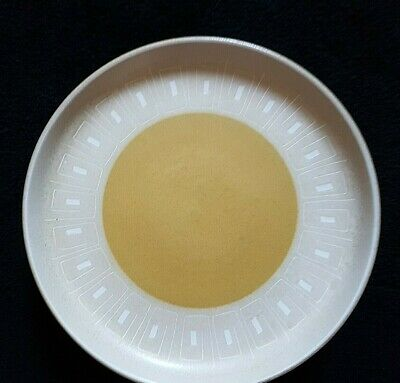 Denby Ode Caramel Brown / White Pattern 10 inch Dinner Plate x1 (2 avail) c1975+