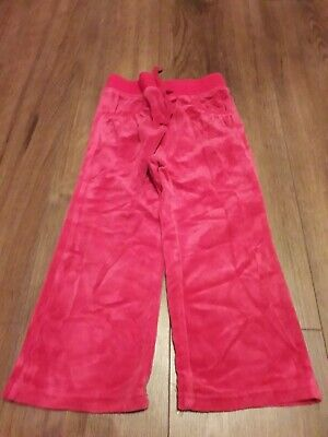 girls pink velour tracksuit bottoms age 3-4 years