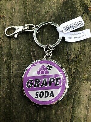 Disney Parks Pixar Large UP Grape Soda Cap Actual Bottle Opener Keychain - NEW