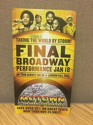 Motown BROADWAY Mailer Flyer Musical Tony New York Blues