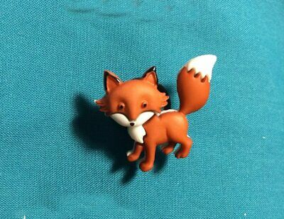 Cute Little Red Fox Foxes STANDING Animal Holey Clog Button Shoe Charms Charm
