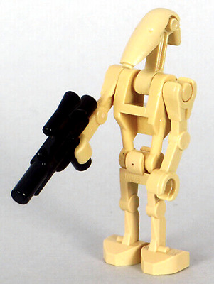 LEGO Star Wars - Tan Battle Droid Minifigure with Blaster (NEW)