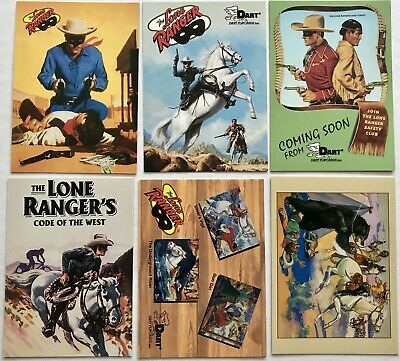 Lone Ranger Lot Of 6 Different Promo Cards - Dart Flipcards 1996