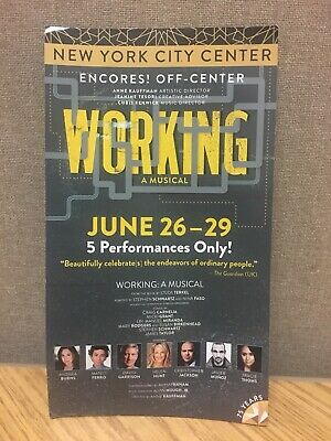 RARE Working BROADWAY Mailer Flyer Musical New York Encores