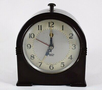 ART DECO SMITHS SECTRIC BAKELITE ELECTRIC ALARM CLOCK c1937