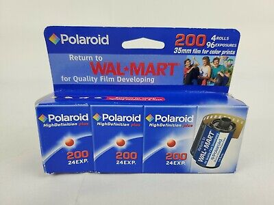 Polaroid 35mm Film For Color Prints(4 Rolls) 200 EXP 6/06