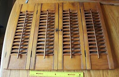 Wooden Louver Vintage shutters folding hinged dinner Pass through