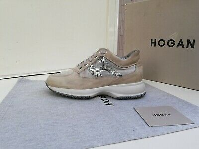 Scarpe Hogan N.35,5 Originali Interactive Donna Shoes Women Size,Beige, Strass