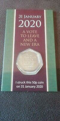 Strike Your Own 2020 Brexit 50p Coin 31st January Dated Packaging LTD edition