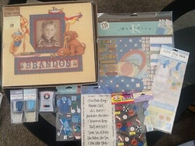 k&company scrapbook album boy with lots of extras included