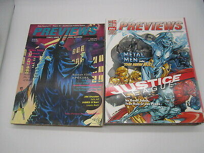 3 Diamond Comic Previews June 1993 & 2 Dec 2013 Plasm #0 Deathmate Orange