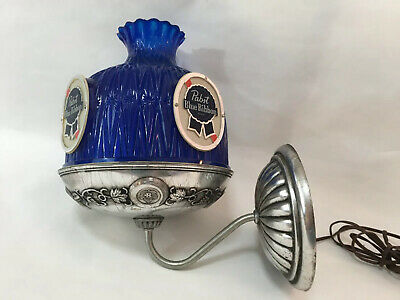 Vintage Pabst Blue Ribbon Beer Wall Sconce Electric Lamp Light Bar Sign