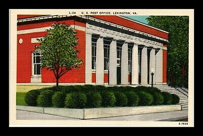 Dr Jim Stamps Us Post Office Lexington Virginia Linen View Postcard