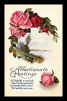 Dr Jim Stamps Us Affectionate Greetings Embossed Topical Postcard