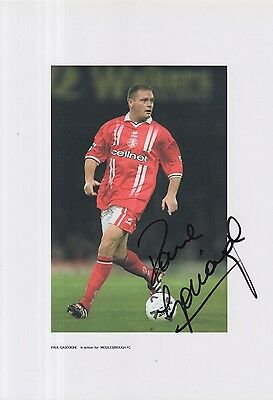 Middlesbrough Hand Signed Paul Gascoigne 12X8 Photo.