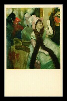 Dr Jim Stamps Us Woman In Rose Hat Edgar Degas Painting Topical Postcard