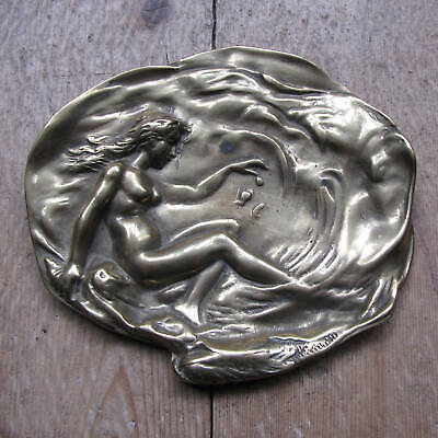 Art Deco Brass Pin Tray / Trinket Dish