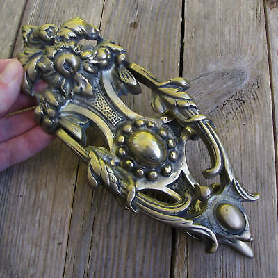 Ornate Solid Brass Reproduction Door Knocker Antique Style