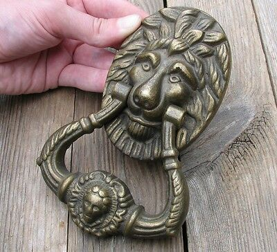 Vintage Reclaimed Attractive Solid Brass Lion Door Knocker