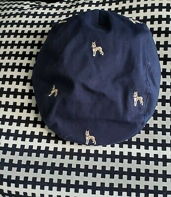 Janie And Jack Boys Page Bot Hat Embroidered Dogs. Size 4-5 NEW