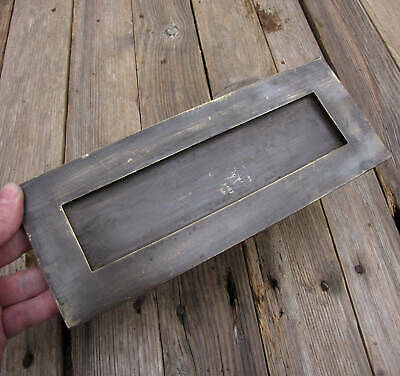Vintage Solid Brass Letter Box Plate with WORKING SPRING