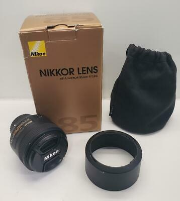 Nikon Nikkor AF-S 85mm f/1.8 G Medium Telephoto Portrait IF System Camera Lens