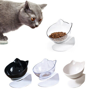 NEW Cat Double Bowls with Raised Feeder Stand Pet Food Water Bowl Dog