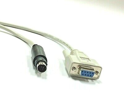Compatible 1761-CBL-PM02 8-Pin Mini DIN to 9-Pin D Shell RS232 Cable