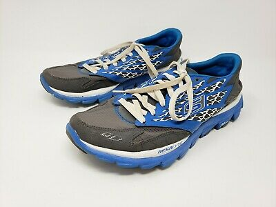 Skechers Go Run 600 Circulate Mens Black Blue Grey Trainers Shoes Size 7-13