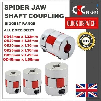 CNC Shaft Coupler Flexible Plum Spider Jaw Coupling Stepper Motor All Bore Sizes