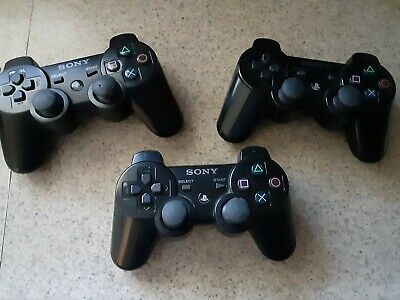 Sony Playstation 3 (PS3) Sixaxis Wireless Controller Black 3 pack
