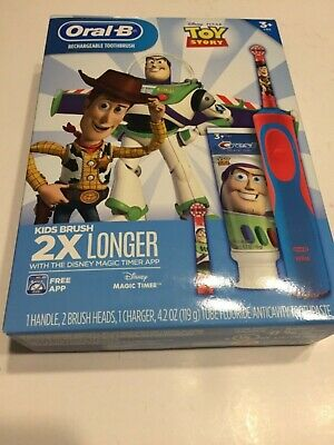 Oral-B Kids TOY STORY Gift Pack with Electric Rechargeable Toothbrush NEW!