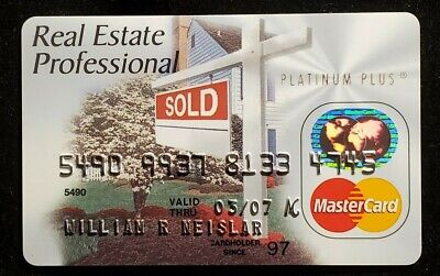 Real Estate Professional MasterCard exp 2007♡Free Shipping♡cc1020♡